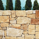Stone wall from sandstone