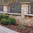 Stone fence from sandstone
