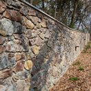 img.: Wall from a natural stone